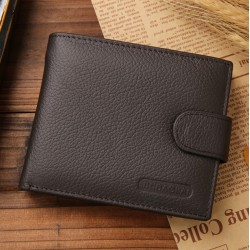 Leather Wallet Men's Brown...