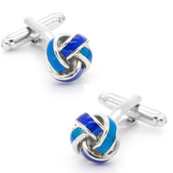 Blue Knot Twisted Cufflinks...