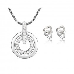 Women's Clear Stones Circle...