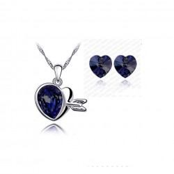 Crystal Love Hearts Silver...