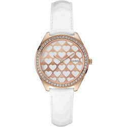 Guess Ladies Watch Transparent Dial W11143L1