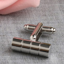 Square Textured Design Cufflinks Wedding Formal Business