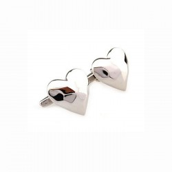 Silver Heart Love Cufflinks...