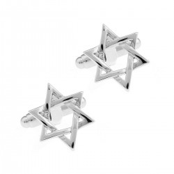 Glitzy Square Stone Encrusted Cufflinks Wedding Formal Business Checkerboard Design