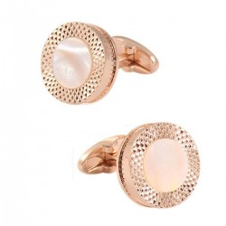 Round Rose Gold Cufflinks...