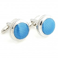 Mens Ladies Blue Button...